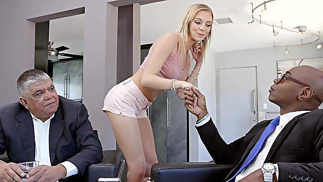 Thin babe handles the man's BBC like a real porn pro