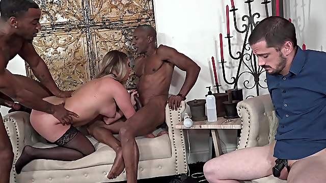 Kayley Gunner puts a white guy through a daunting cuckold experience